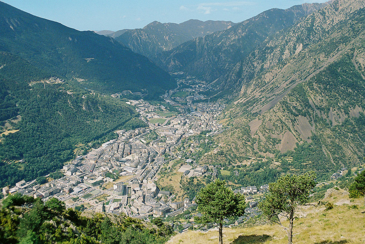 Andorra la Vella, capital city of Andorra