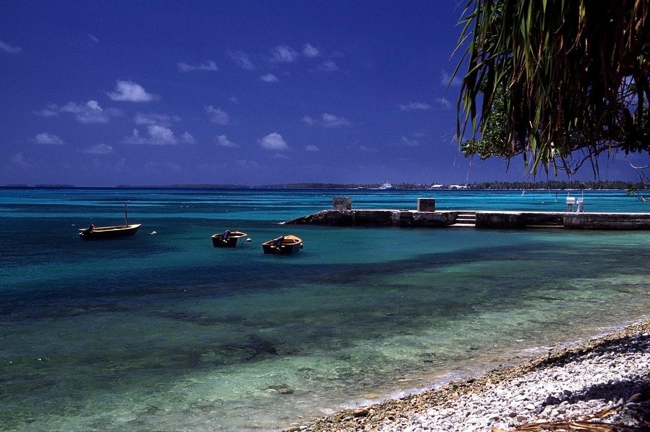 Beach in Funafuti, Tuvalu