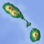 Saint Kitts and Nevis – topographic