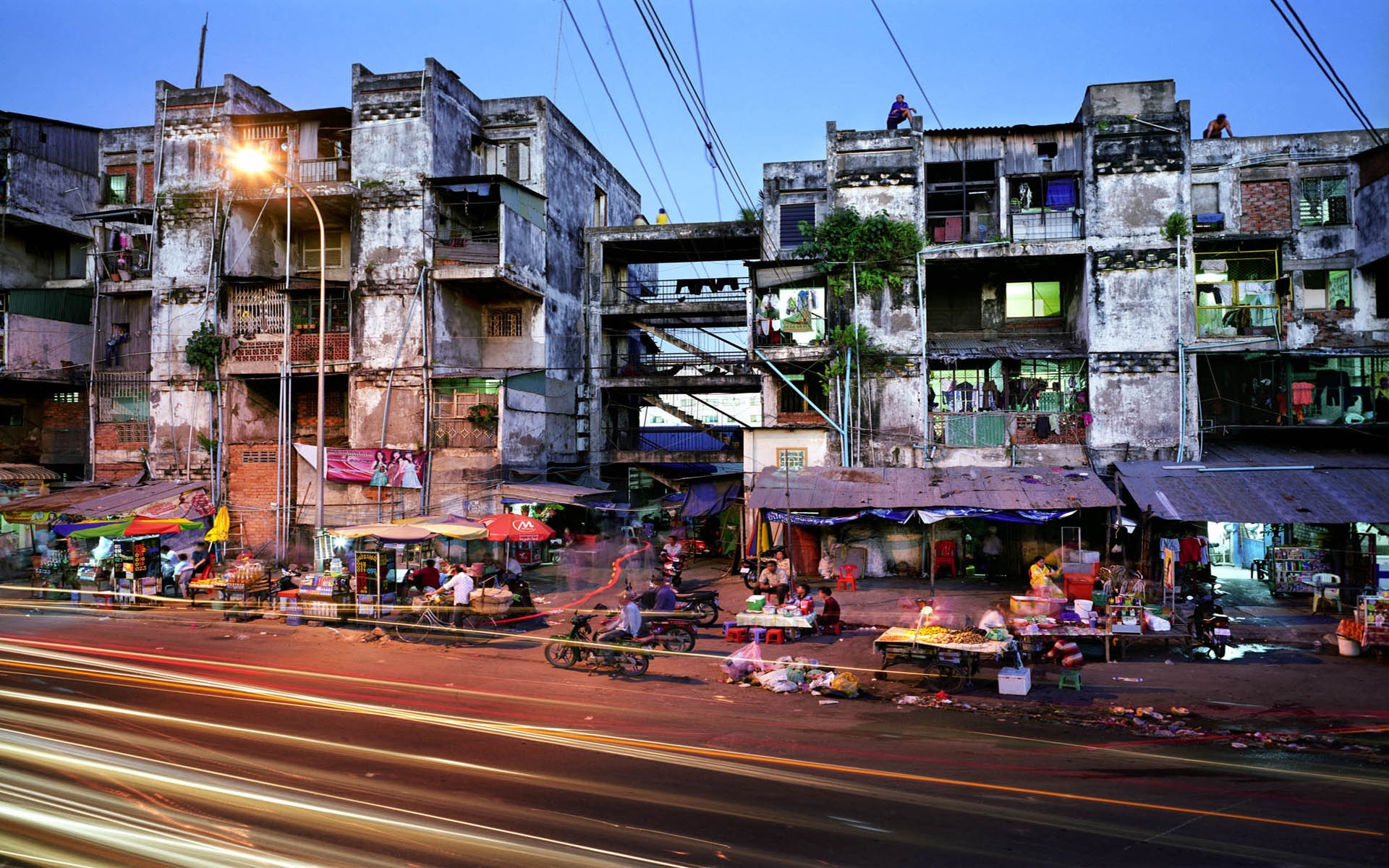 Slums in Phnom Penh, Cambodia