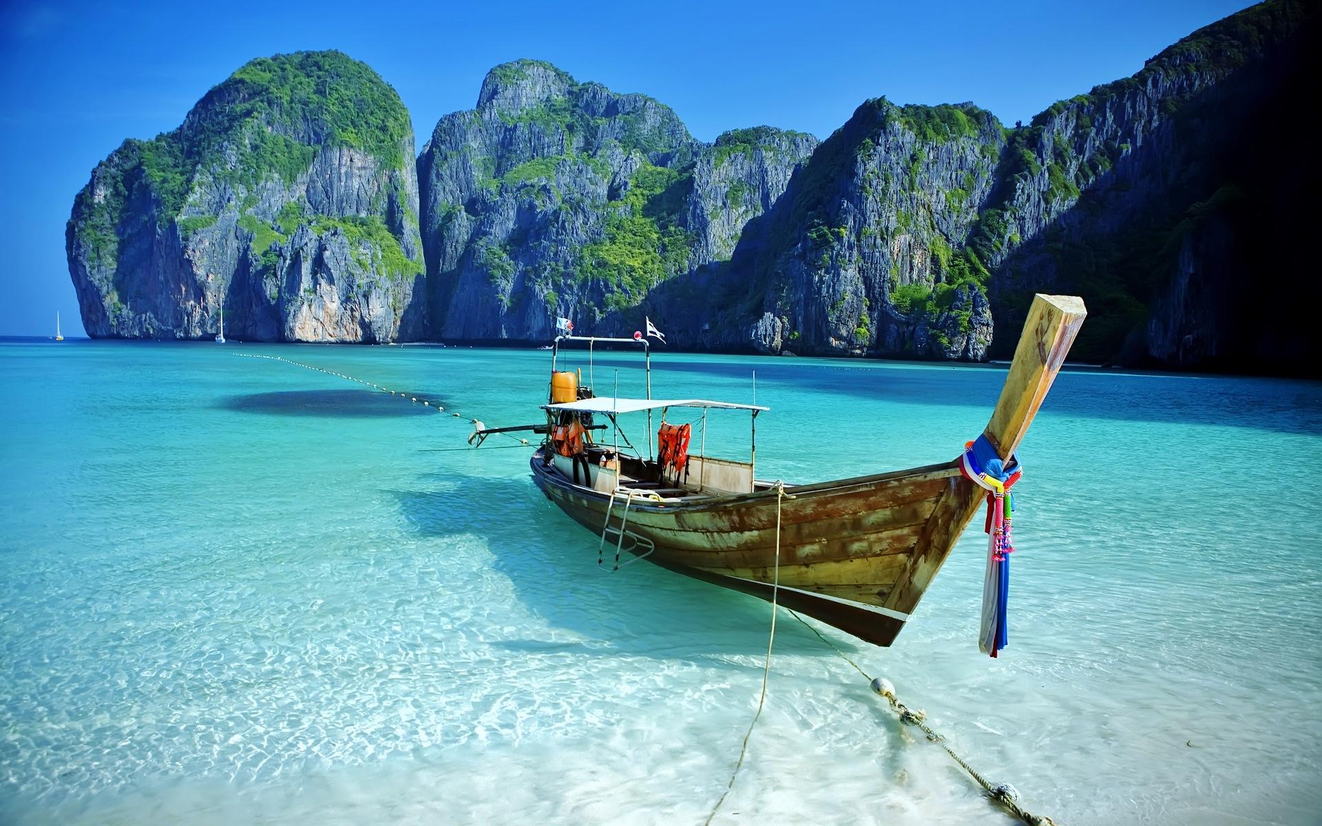 Baie Maya, Phuket, Thaïlande.