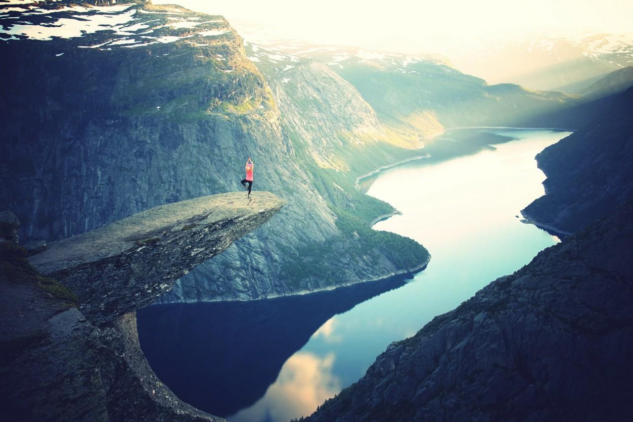 Fjord à Trolltunga , Norvège