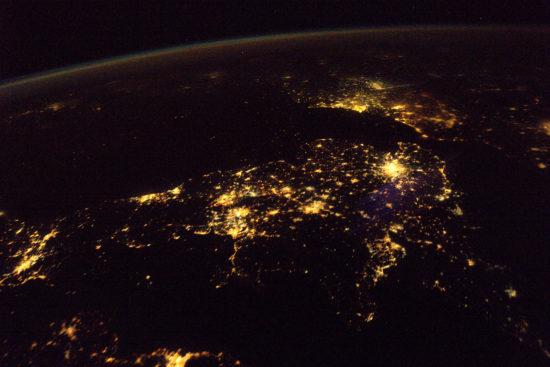 Royaume-Uni - lumières de la nuit