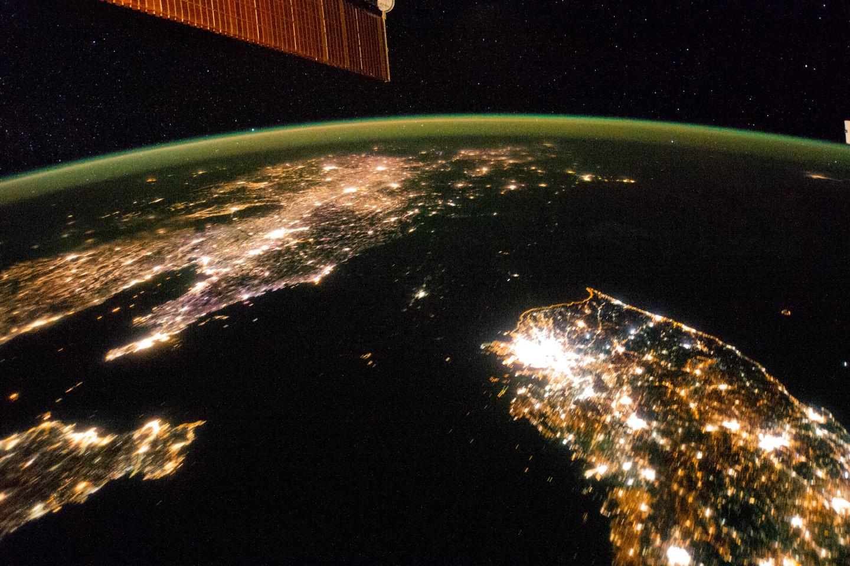 Corée du Nord - lumières de la nuit