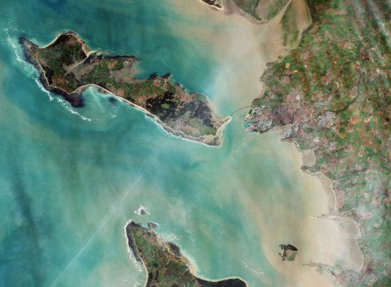 France - La Rochelle et l'Île de Ré en satellite