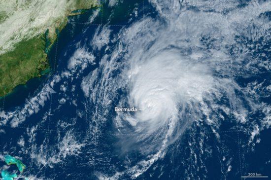 Bermudes - ouragan Nicole (13 octobre 2016)