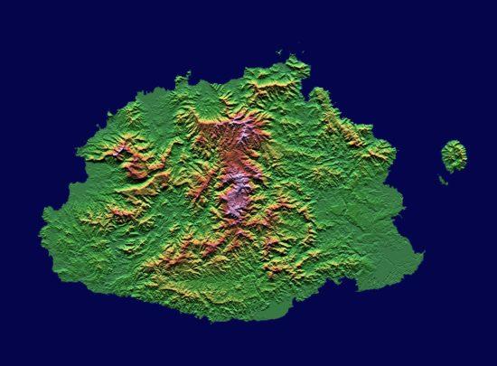 Fidji - Viti Levu : topographique