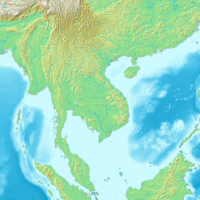 Indochina – topographic