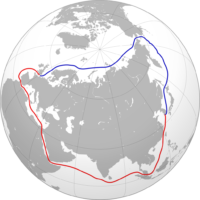World – North or South Sea Routes?