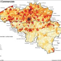 Belgium – Commercial density (2009)