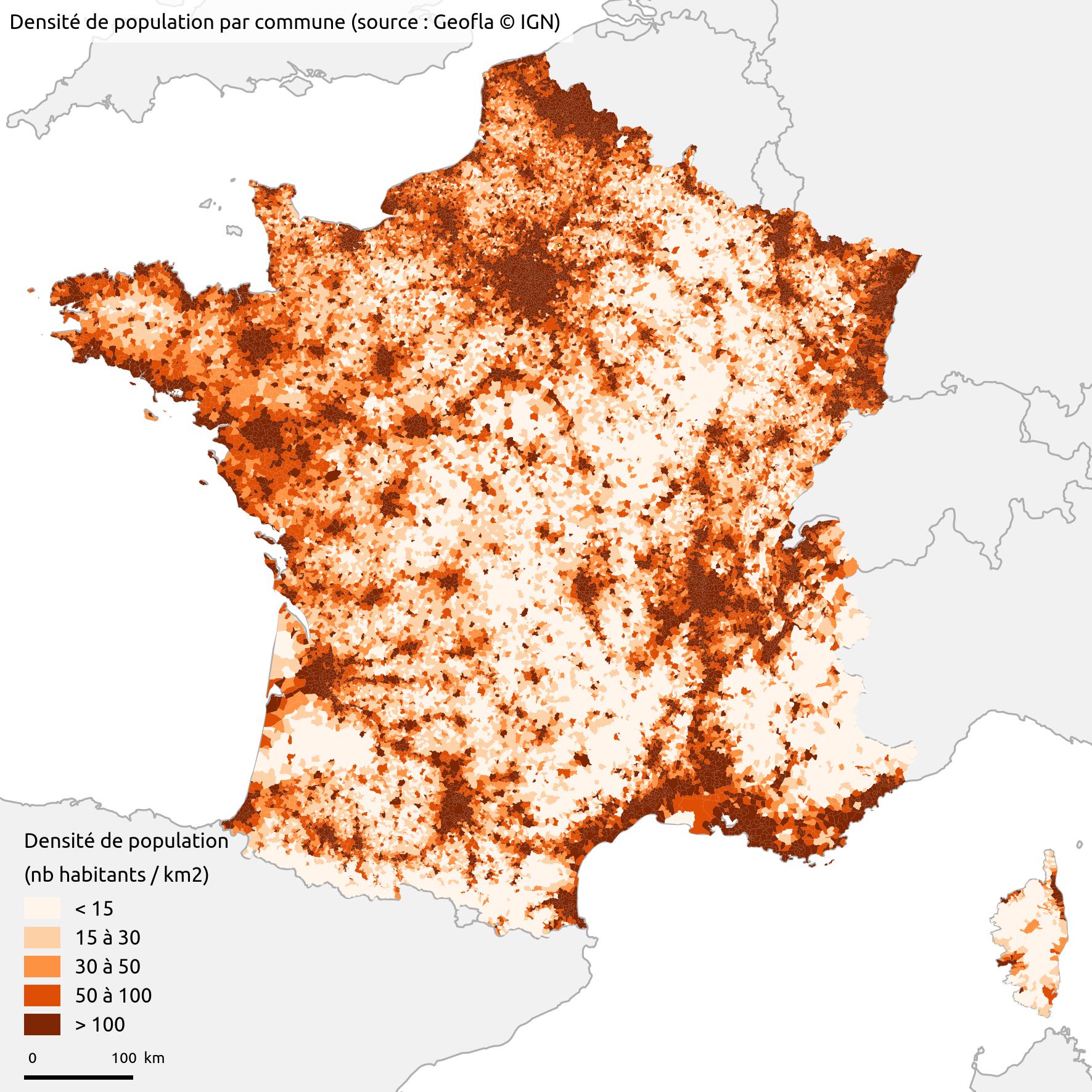 France - density (communes)