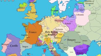 Geopolitical history of Europe, in maps