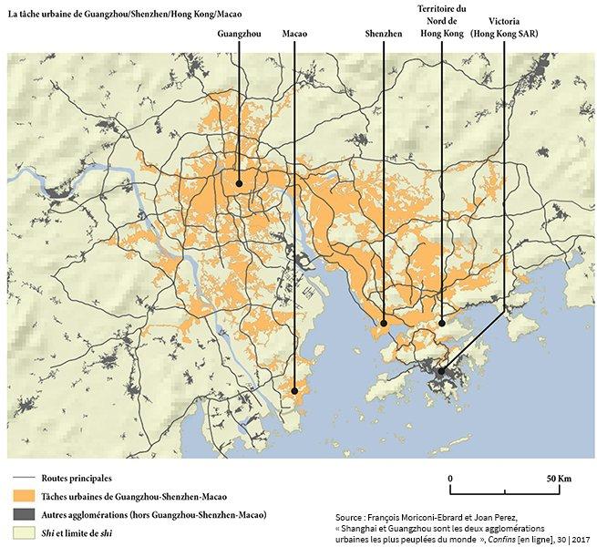 Pearl River Delta - urban spot • Map • PotionData.net on