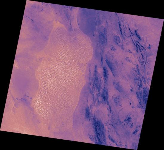 Iran - Désert de Lout (satellite)