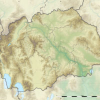North Macedonia – topographic