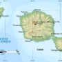 Tahiti and Moorea – topographic