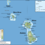 French Polynesia – Leeward Islands: topographic