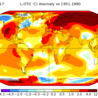 World – Temperatures: anomalies (March 2017)