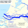Rhine – average annual flow at the mouth
