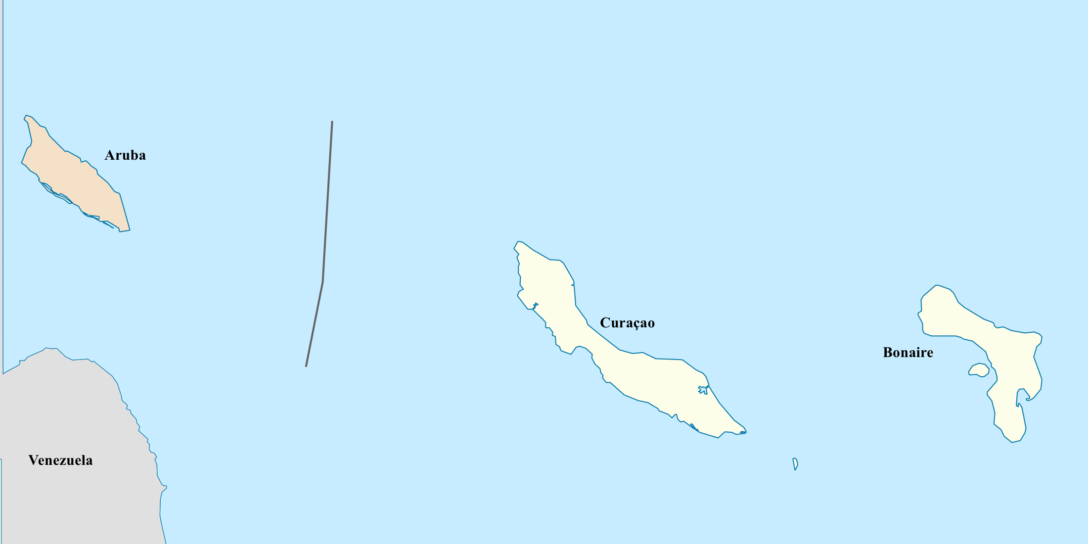 map of curacao and aruba Caribbean Netherlands Aruba Curacao Bonaire Map map of curacao and aruba