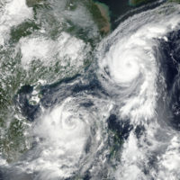 Typhoons Talim and Doksuri (13 September 2017)