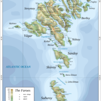 Faroe Islands – topographic
