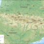 France-Spain – Pyrenees: topographic