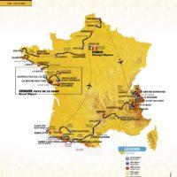 Map of the Tour de France 2018