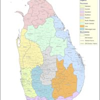 Sri Lanka – administrative (districts)