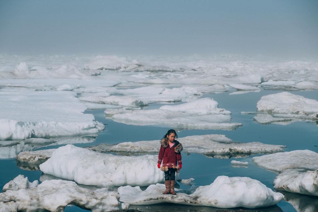 Young Inuit girl, Barrow, Alaska