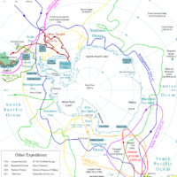 Expeditions in Antarctica before 1897
