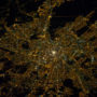 Russia – Moscow by night (satellite)