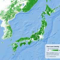 Japan – Korea: Tree cover density