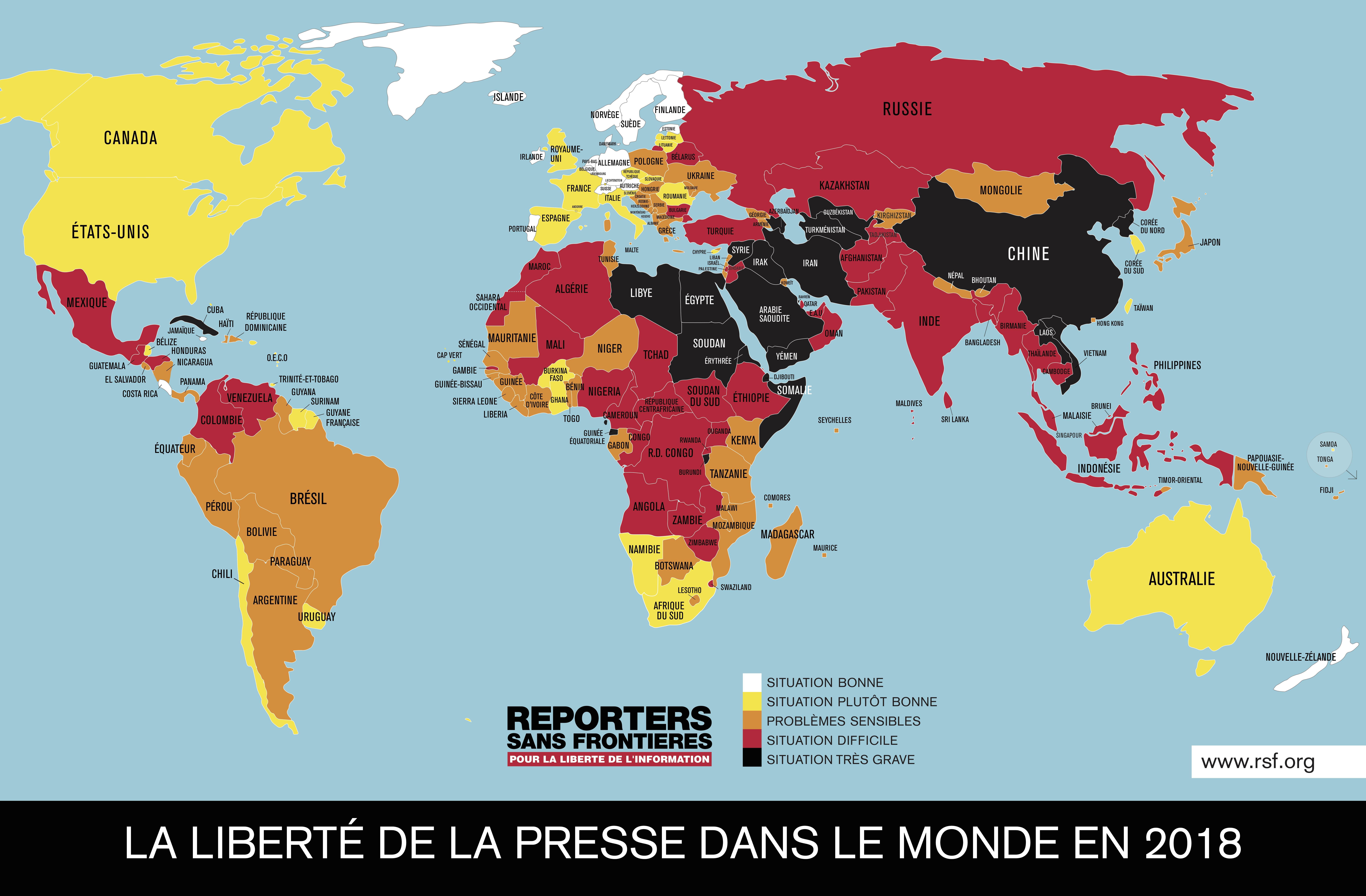 World - Press Freedom (2018)