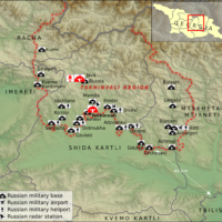 South Ossetia-Alania – Russian military bases (2015)