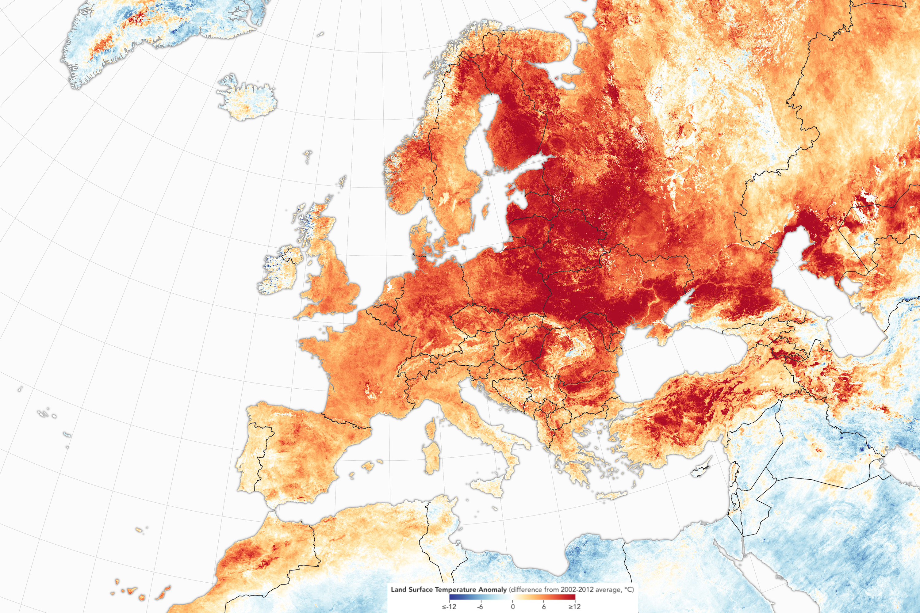 Europe - Temperatures anomaly (February 2019)