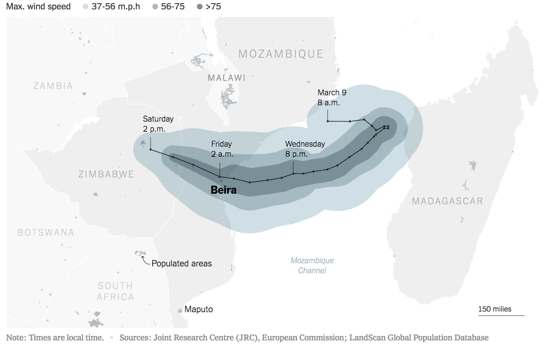 Cyclone Idai, Mozambique Channel