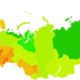 Russia – density of regions (2017)