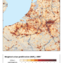 France-Benelux-Germany – urbanization (2009)
