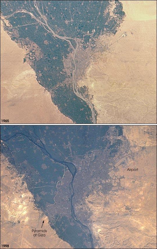 Égypte - Le Caire : urbanisation (1965-1998)