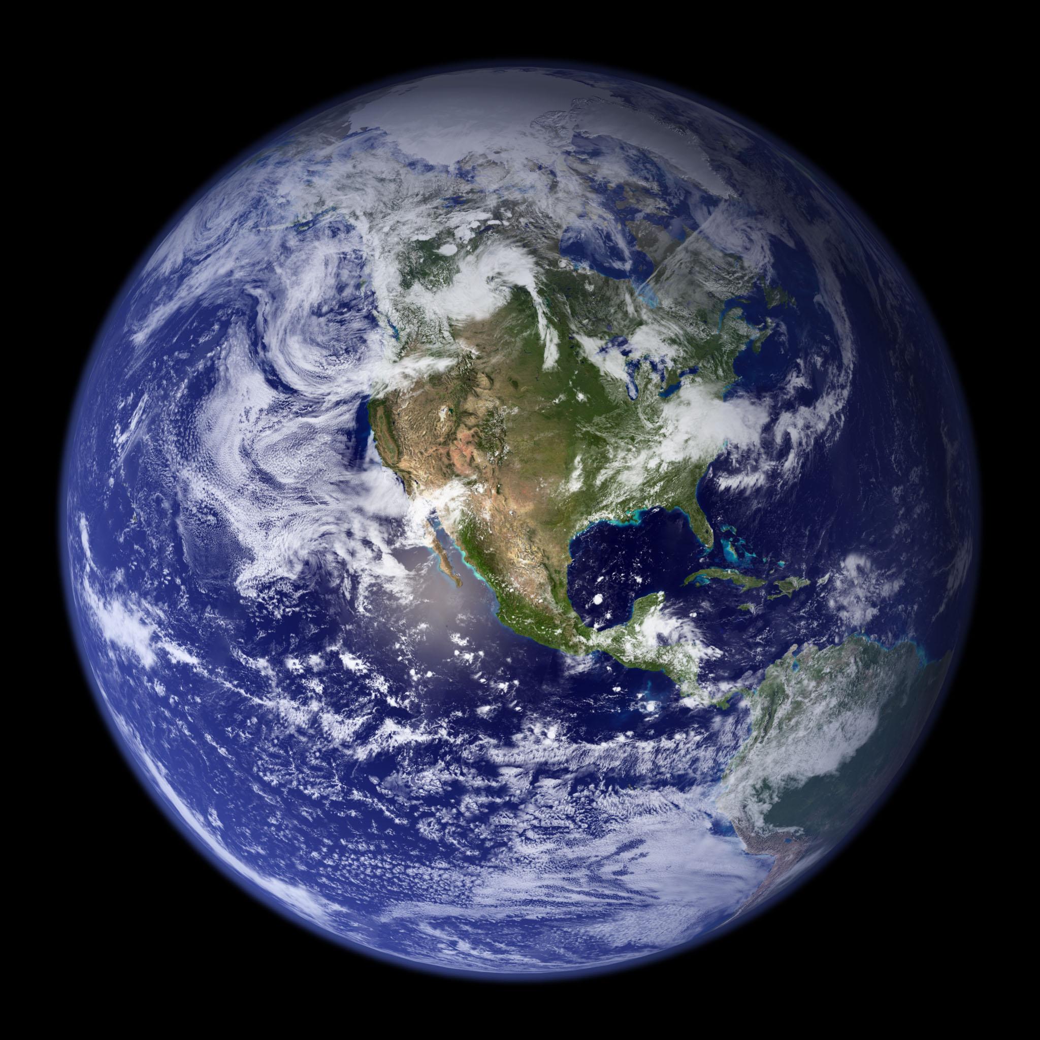 Monde Hémisphère Ouest