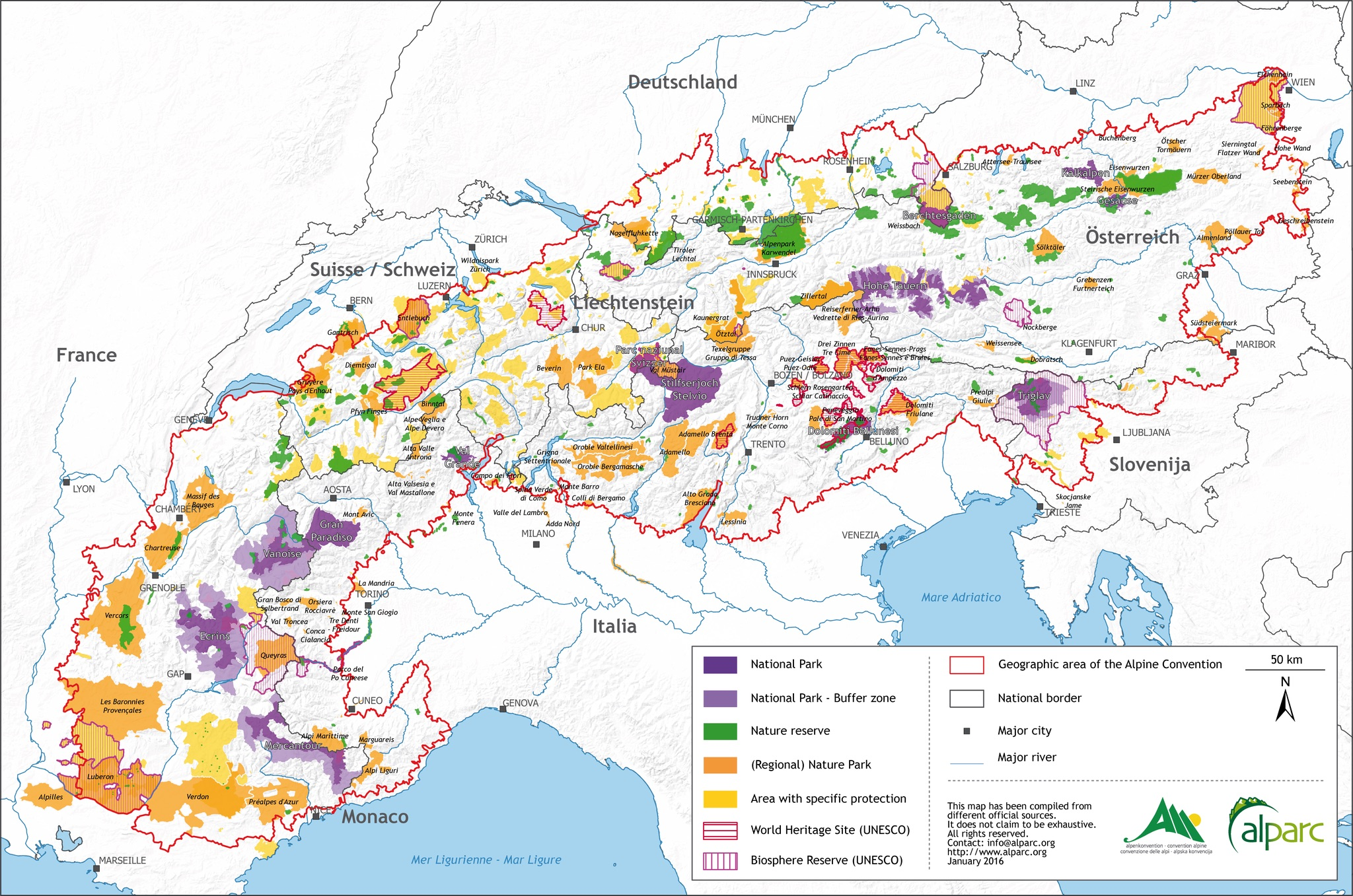 Picture of: Europe Alps Protected Areas Map Populationdata Net