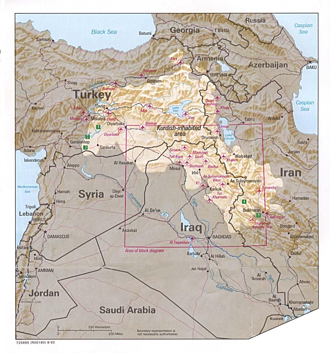 Kurdistan • Map • PopulationData.net