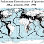 World – Location of earthquakes