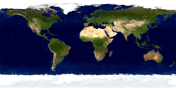 carte vue du ciel Monde   Vu du ciel • Map • PopulationData.net