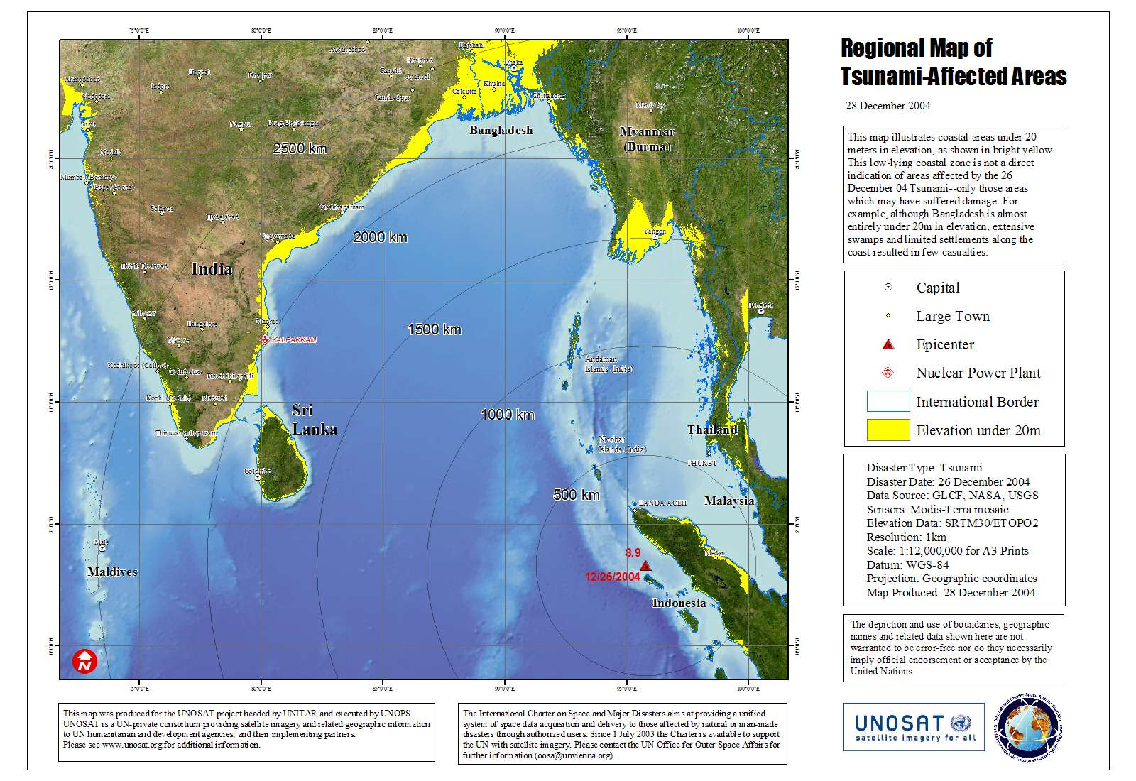 Océan indien - Tsunami (26 décembre 2004)