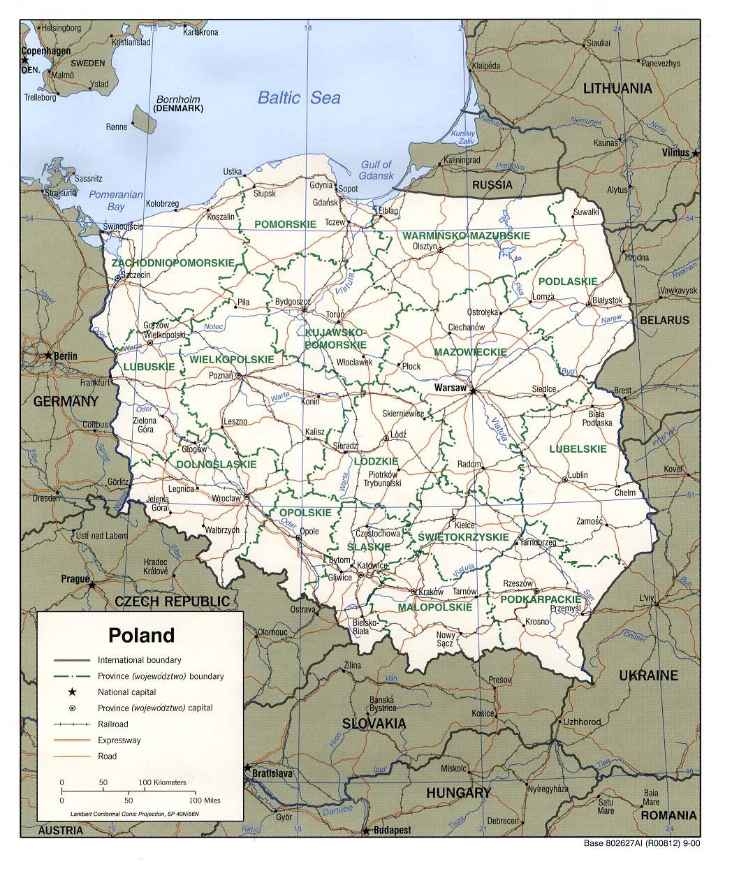 Pologne Map Populationdata Net