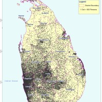 Sri Lanka – distribution de population (2012)