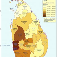 Sri Lanka – population Districts (2012)