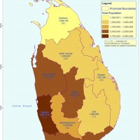 Sri Lanka – population Provinces (2012)